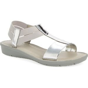 Munro | Ideal T-Strap Silver Orthotic Sandal Sz 9